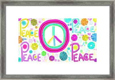 All The Peace Framed Print by Rosana Ortiz