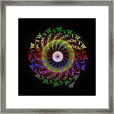 All You Need Is Love 3 Framed Print by Atheena Romney