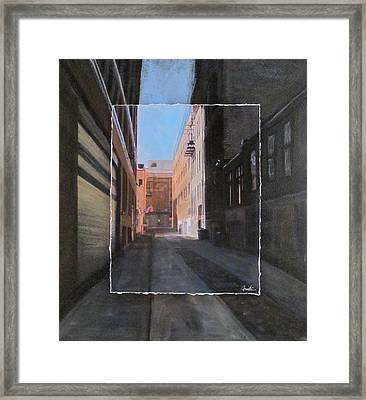 Alley Front Street Layered Framed Print by Anita Burgermeister