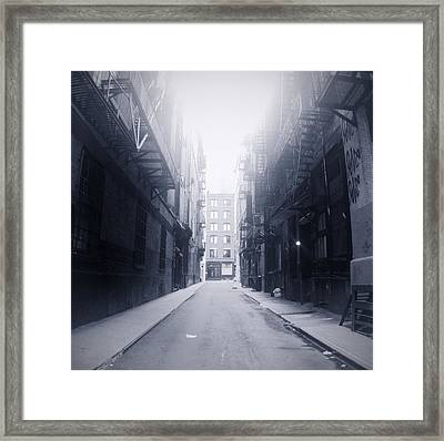 Alleyway Framed Print by William Andrew