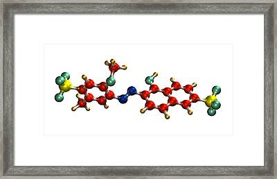 Allura Red Ac Food Colouring Molecule Framed Print by Dr Mark J. Winter