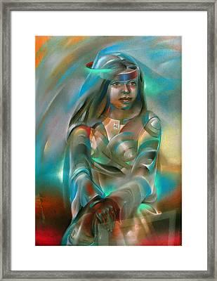 Alma - Not Seen Sister 1980 Framed Print by Glenn Bautista