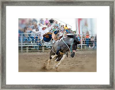 Almost 8 Seconds Framed Print by Lisa Moore