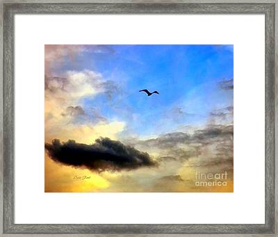 Alone In A Big Sky Framed Print by Dale   Ford