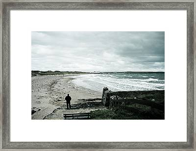 Alone Without You Framed Print by Georgia Fowler