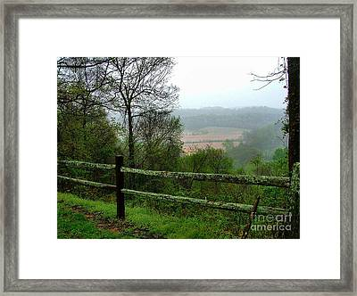 Along The Natchez Trace Framed Print by Julie Dant