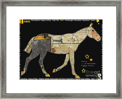 Alphabet Horse Juvenile Licensing Art Framed Print by Anahi DeCanio