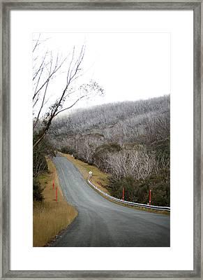 Alpine Way Road Near Thredbo Australia Framed Print by Virginia Star