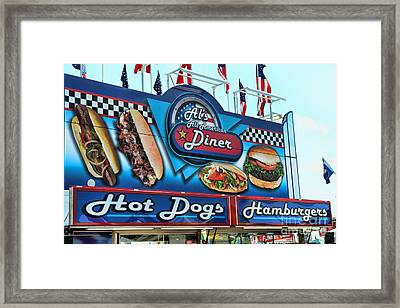 Al's All American Diner Framed Print by Paul Ward