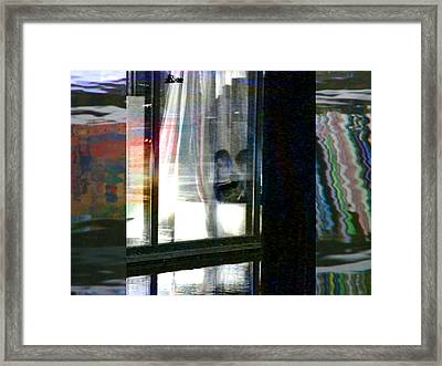 Alternate Reality - Mother And Son Reading Framed Print by Lenore Senior