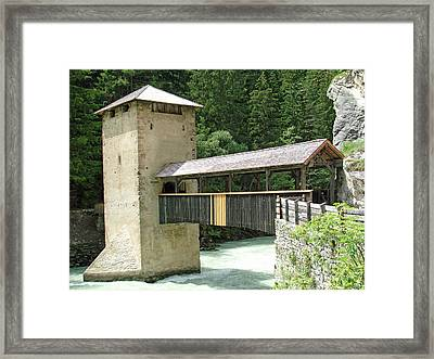 Altfinstermunz Bridge Nauders Switzerland Framed Print by Joseph Hendrix