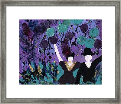 Althea Dances With Ned Framed Print by Annette McElhiney