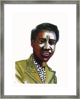 Althea Gibson Framed Print by Emmanuel Baliyanga
