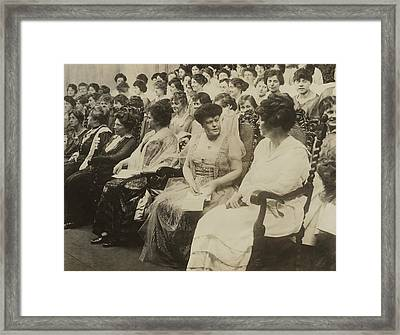 Alva Belmont, Seated Second From Right Framed Print by Everett