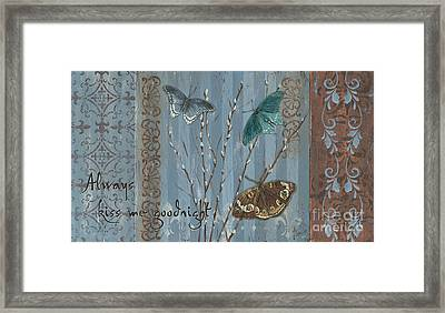 Always Kiss Me Goodnight Framed Print by Debbie DeWitt