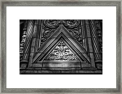 Alwyn Court Building Detail 13 Framed Print by Val Black Russian Tourchin