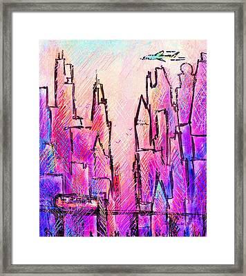 Am Chicago Framed Print by Rachel Christine Nowicki