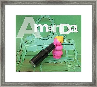 Amanda Lepore Framed Print by Ricky Sencion