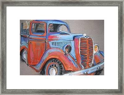 Amarillo Truck Framed Print by Barbara Richert