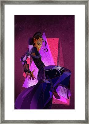 Amaya Framed Print by Nelson Dedos Garcia