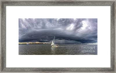 Amazing Storm Clouds And Sailboat Charleston Sc Framed Print by Dustin K Ryan