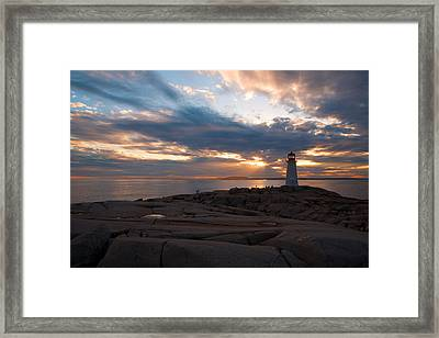 Amazing Sunset At Peggy's Cove Framed Print by Andre Distel