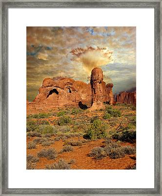 Amber Arches Framed Print by Marty Koch
