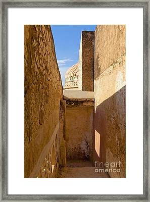 Amber Fort Stairway Framed Print by Inti St. Clair