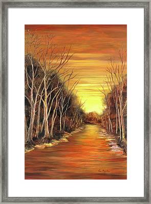 Amber River Framed Print by Vic  Mastis
