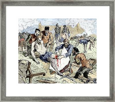 Ambroise Pare In The Army, Artwork Framed Print by Sheila Terry