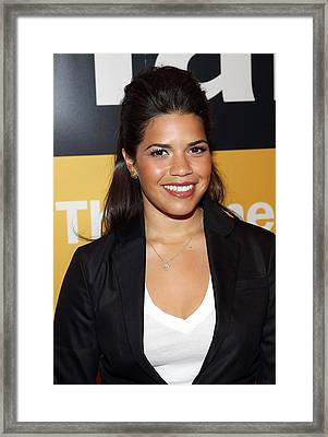 America Ferrera At A Public Appearance Framed Print by Everett
