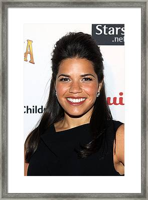 America Ferrera At Arrivals For Save Framed Print by Everett