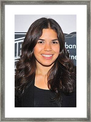 America Ferrera At The After-party Framed Print by Everett
