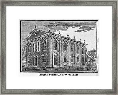 America: Lutheran Church Framed Print by Granger