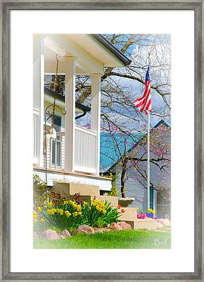 America The Beautiful In Spring Framed Print by Christine Belt