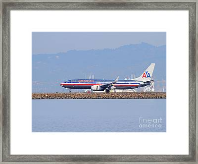 American Airlines Jet Airplane At San Francisco International Airport Sfo . 7d11837 Framed Print by Wingsdomain Art and Photography