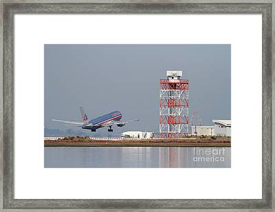 American Airlines Jet Airplane At San Francisco International Airport Sfo . 7d12073 Framed Print by Wingsdomain Art and Photography