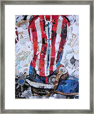 American Boot Framed Print by Suzy Pal Powell