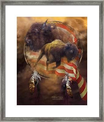 American Buffalo Framed Print by Carol Cavalaris