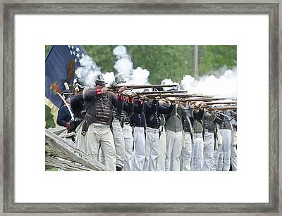 American Firing Line Framed Print by JT Lewis