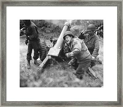 American Howitzers Shell German Forces Framed Print by Stocktrek Images