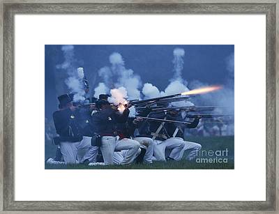 American Night Battle Framed Print by JT Lewis