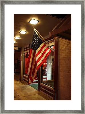 American Night Framed Print by Gene Bishop