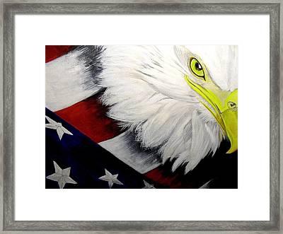 American Pride Framed Print by Melissa Torres