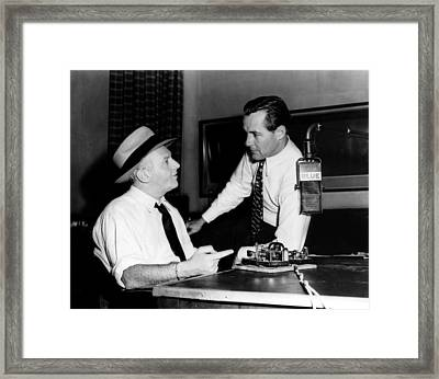 American Radio Commentators Walter Framed Print by Everett