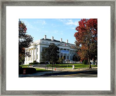 American Red Cross Hq In Washington Framed Print by Feva  Fotos