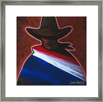 American Rider Framed Print by Lance Headlee