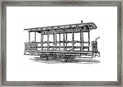 American: Streetcar, 1880s Framed Print by Granger