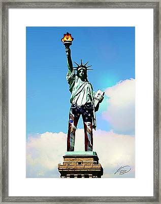 American Style Framed Print by ABA Studio Designs