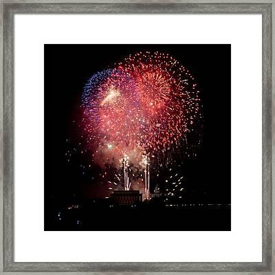 America's Celebration Framed Print by David Hahn